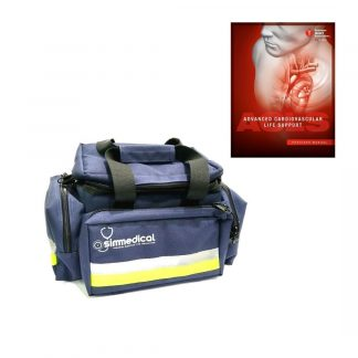 Bolso Rescate Mediano Azul Simmedical + Manual ACLS PACK